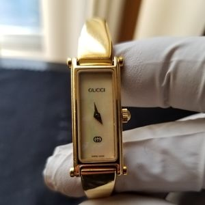 Gucci 1500L gold plated mother of pearl